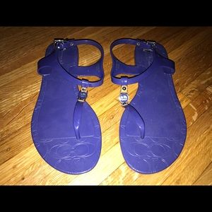 Coach jelly shoes